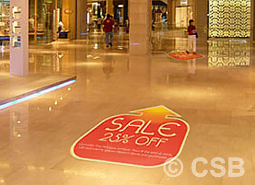 Installation Of Large Floor Graphics Mural