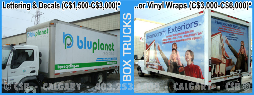 Box Truck Decals And Wraps Prices Calgary Alberta