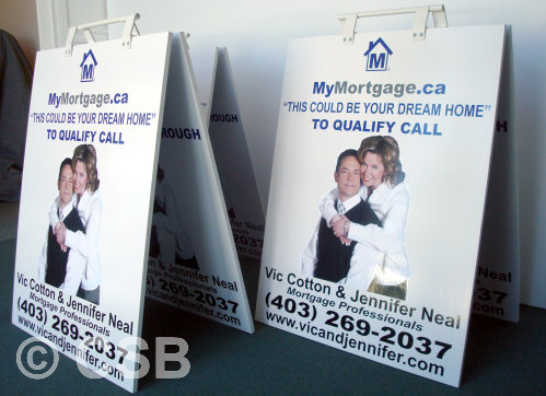 Reversible Sandwich Board Calgary-Made