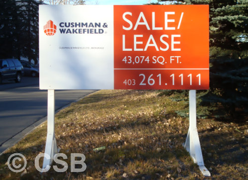 Calgary Commercial Property Lease Sale Signs