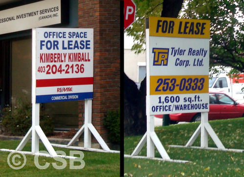 Calgary Commercial Realty Lease Signs