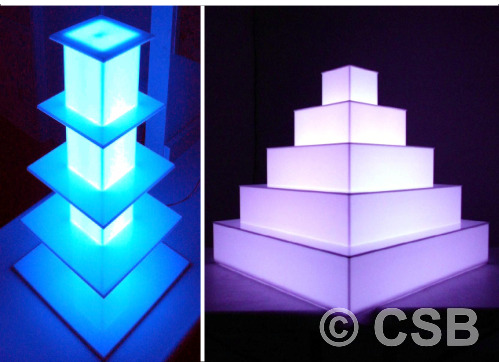 Calgary Custom Illuminated Display Stands For Retail Stores
