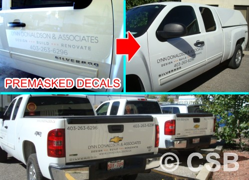 Lots of clients mostly businesses order decals from csb for advertising on their vehicle or fleet thats why we have a separate section dedicated