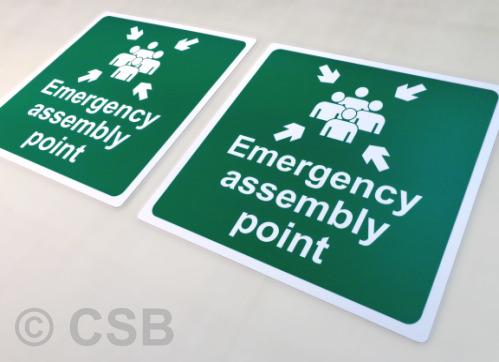 Calgary Emergency Assemby Point Signs
