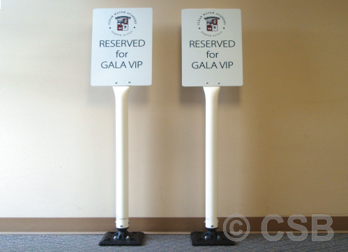 Calgary flexible sign posts with printed sign