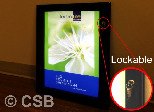 Calgary Illuminated Poster Boxes With Lock