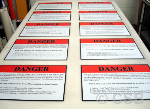 Calgary Magnetic Decals For Safety Signage