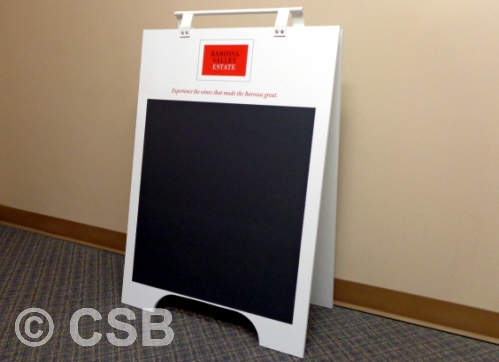 Calgary Manufactured Chalkboard A-Frame Sign with Feet Cut-Out