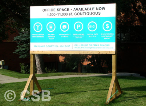 Calgary Manufacturing Commercial Real Estate Signs