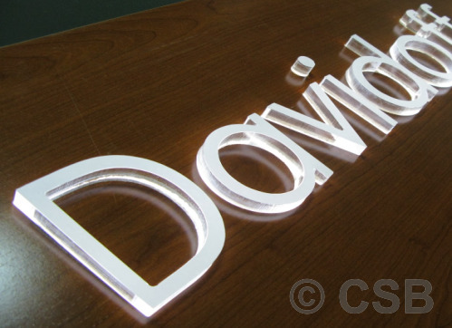 Calgary Manufacturing Of LED Signs With Translucent Letters