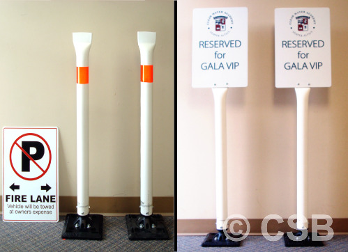 Calgary Parking Signs With Flexible Post
