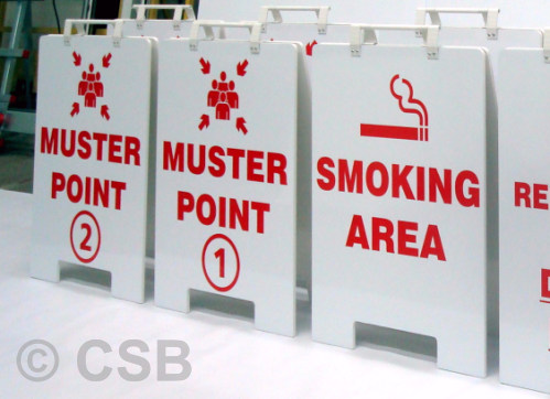 Calgary Portable Muster Point Signs