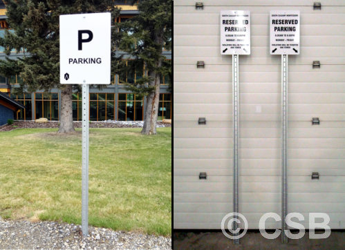 ALUMINUM SIGNS WITH POSTS CALGARY Post Signs With Base, Foundation