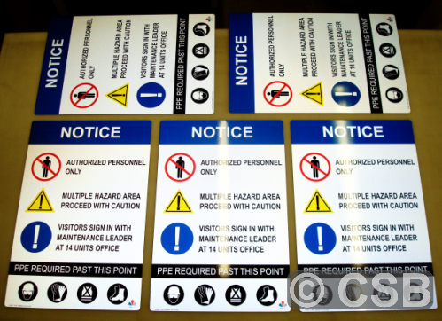 PPE (Personal Protective Equipment) Signage Calgary