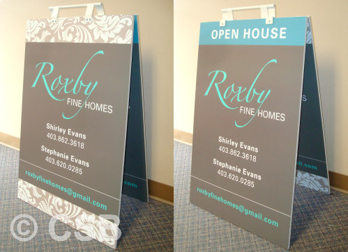 24 inch x 32 inch Reversible Sandwich Board Signs