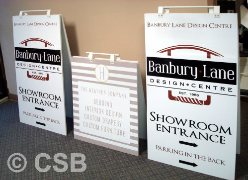 Calgary Sandwich Boards Samples Sizes 24x48 and 24x32