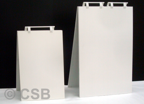 Samples Blank Plain White Sandwich Board Signs From Supplier in Calgary