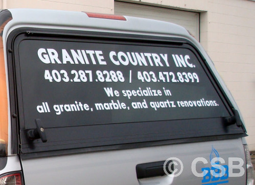 Calgary Truck Decal On Canopy