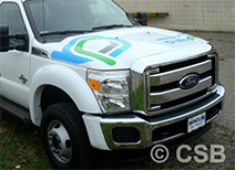Ford F350 Hood 3 Colors Decal