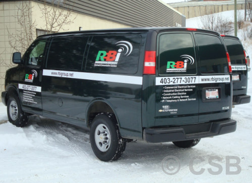 Calgary Van Decals On Door Sides And Back 4 Colours