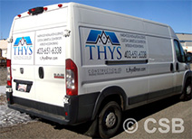 Extended Coverage Decals on Van Sample 2 in Calgary