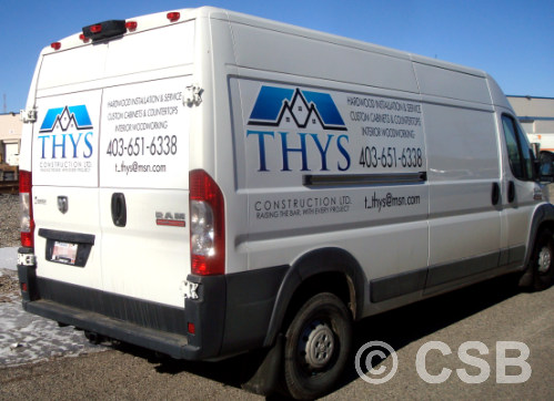 Calgary Extended Van Decals Printed Vinyl With Contour Cut