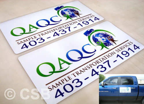 Calgary Vehicle Door Magnetic Signs Manufacturing