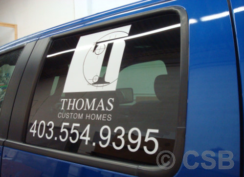 Calgary Truck Side Windows Decals