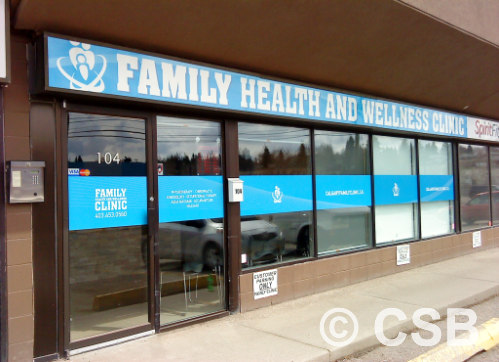 Calgary Window Decals Type Graphic Band