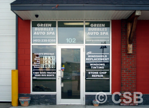 Calgary Window Decals Type Lettering One Color