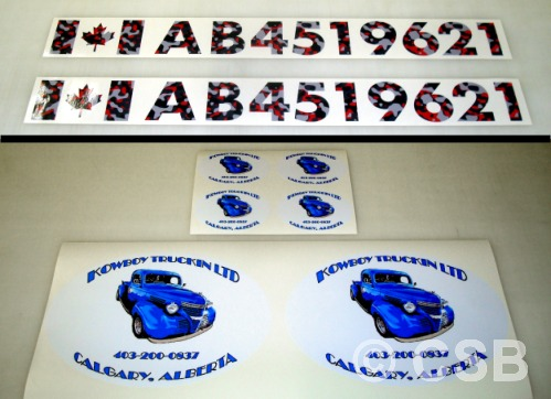 Boat Registration Decals Calgary