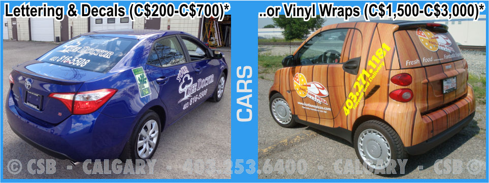 Car decals and wraps prices calgary alberta