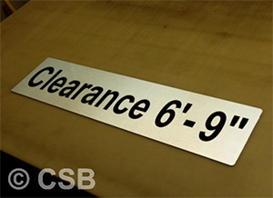Clearance Height Sign Reflective