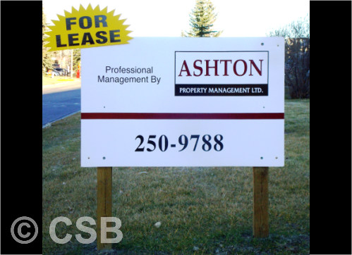 Commercial For Lease Real Estate Signs Calgary