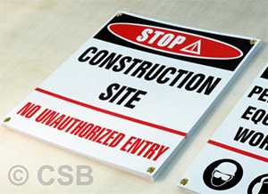 Construction Site No Unauthorized Entry