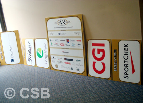Coroplast Signs For Golf Tournaments