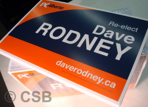 Calgary Screen Printing of Election Signs on Coroplast Material