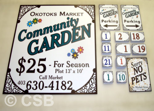 Coroplast Signs For Community Market