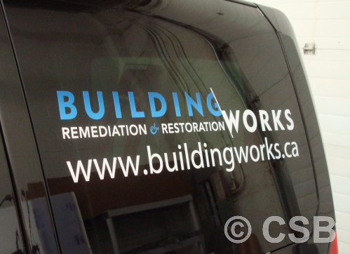 Custom car decals for side windows calgary view