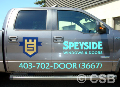 Custom Truck Decals Both Doors Calgary