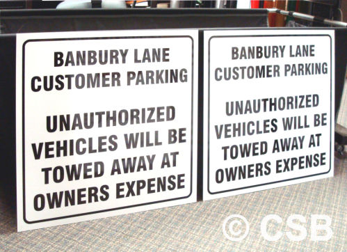 Customer Parking Signs For Wall