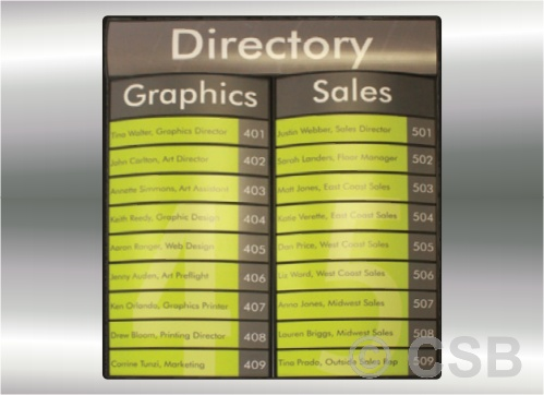 Directory Signs Calgary Manufacturing