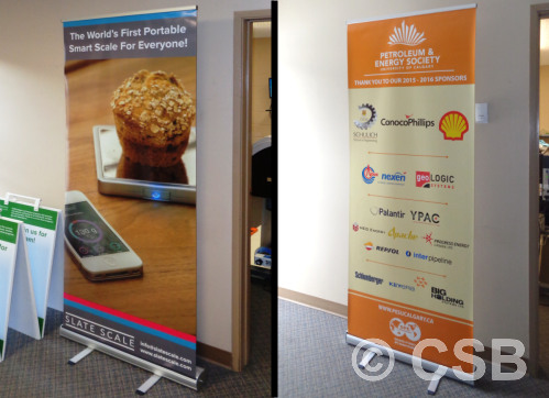 Custom Printed 'Econo' Portable Banner Stands