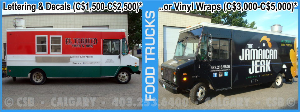 Food Trucks Decals And Wraps Prices Calgary Alberta
