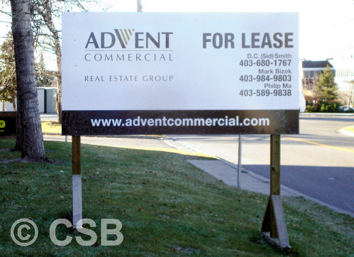 For Lease Signs Manufacturing Calgary