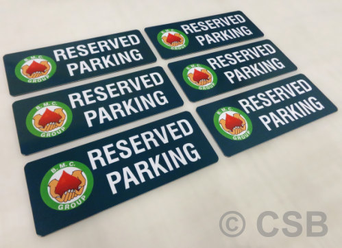 Full Colour Printed Custom Parking Signs