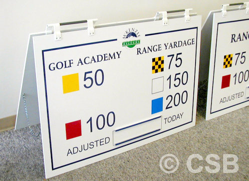 Calgary Golf Signs For Driving Range