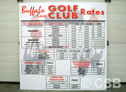 Point Of Sale Golf Signs Calgary