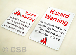 Hazard Warning Icy Conditions