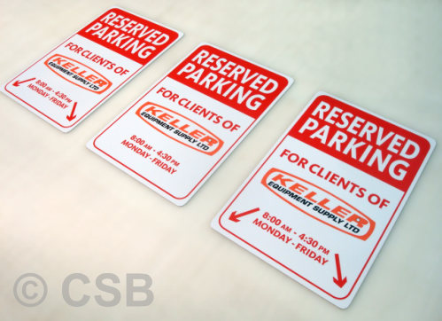 Interpolated Parking Signs Calgary